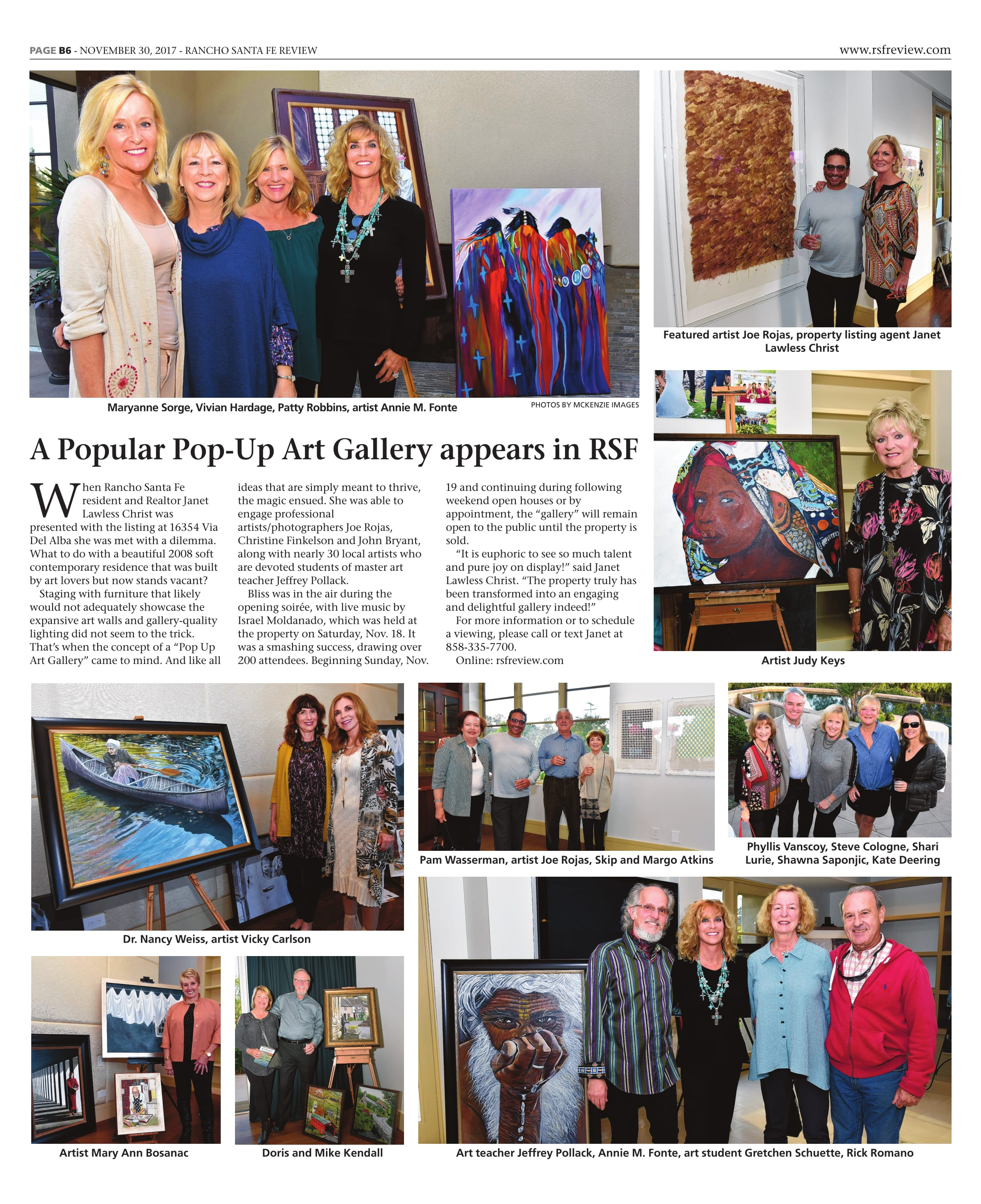 APopular Pop-Up Art Gallery appears in RSF